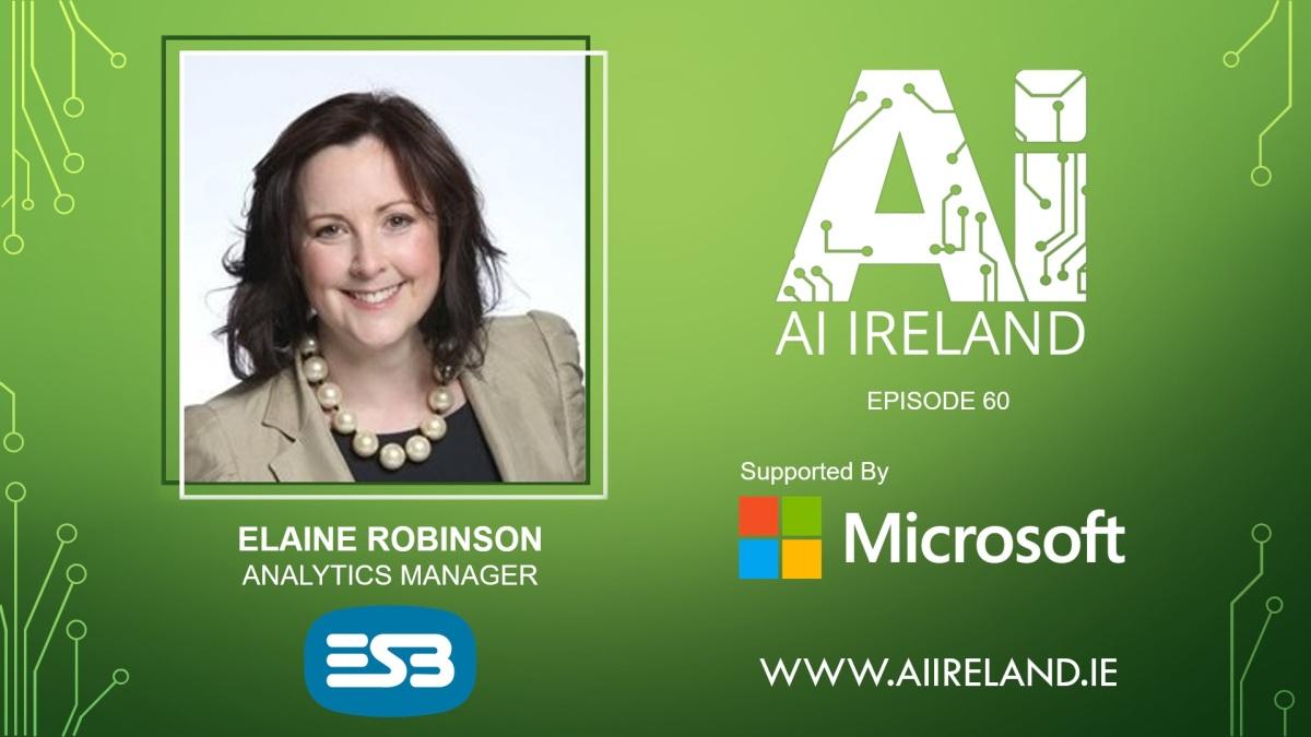 E60 Elaine Robinson, Analytics Manager atESB